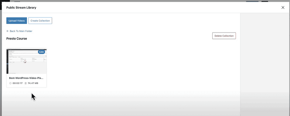 Presto Player - Bunny Stream - Process Finished