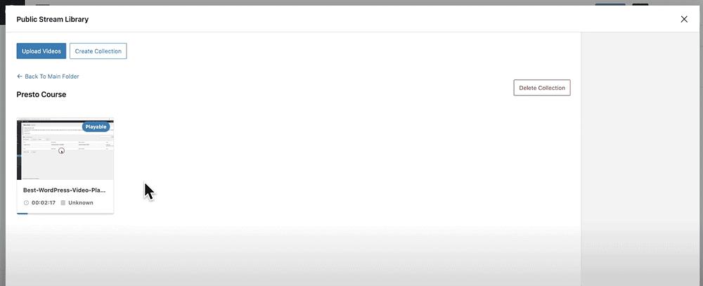 Presto Player - Bunny Stream - Upload and Process Videos