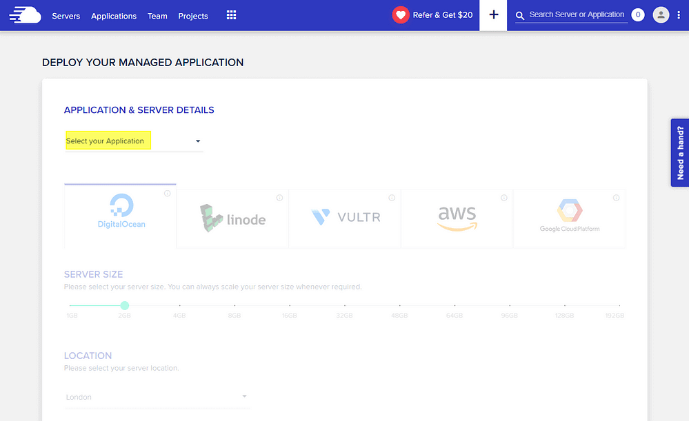 Cloudways - Setting Up Server and Application