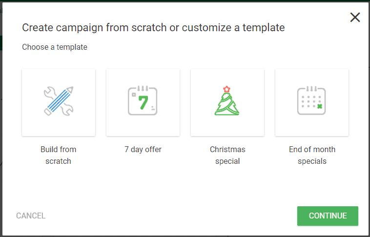 Thrive Ultimatum - 2. New Campaign - 4 options