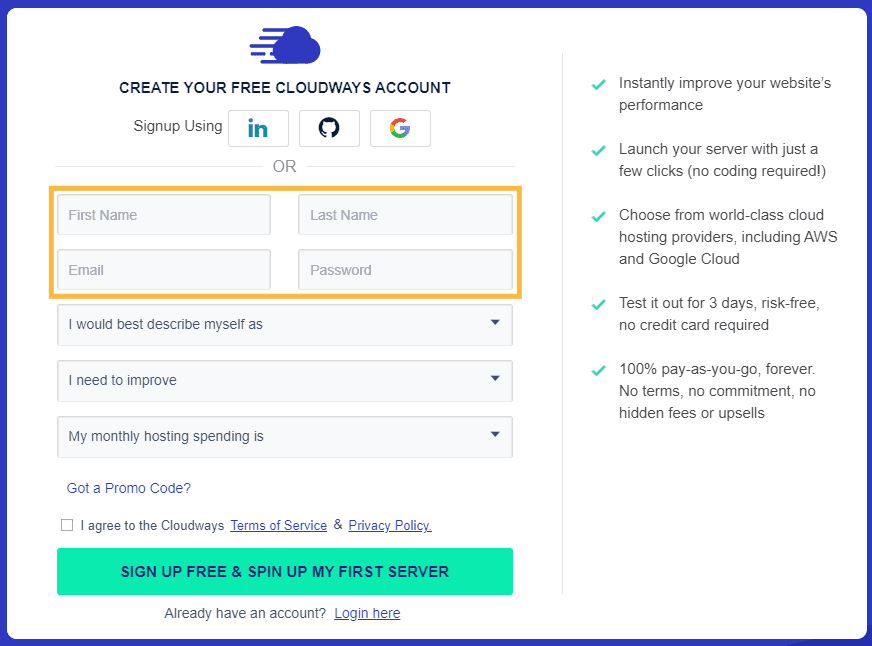 Cloudways-free-trial-signup-step-1